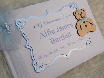 Baby Boys Christening GuestBook